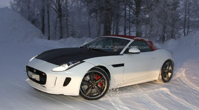 Four-Cylinder Jaguar F-Type Snow Testing