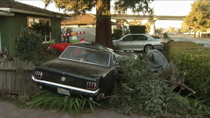 Drunk Driver Hits Ford Mustang