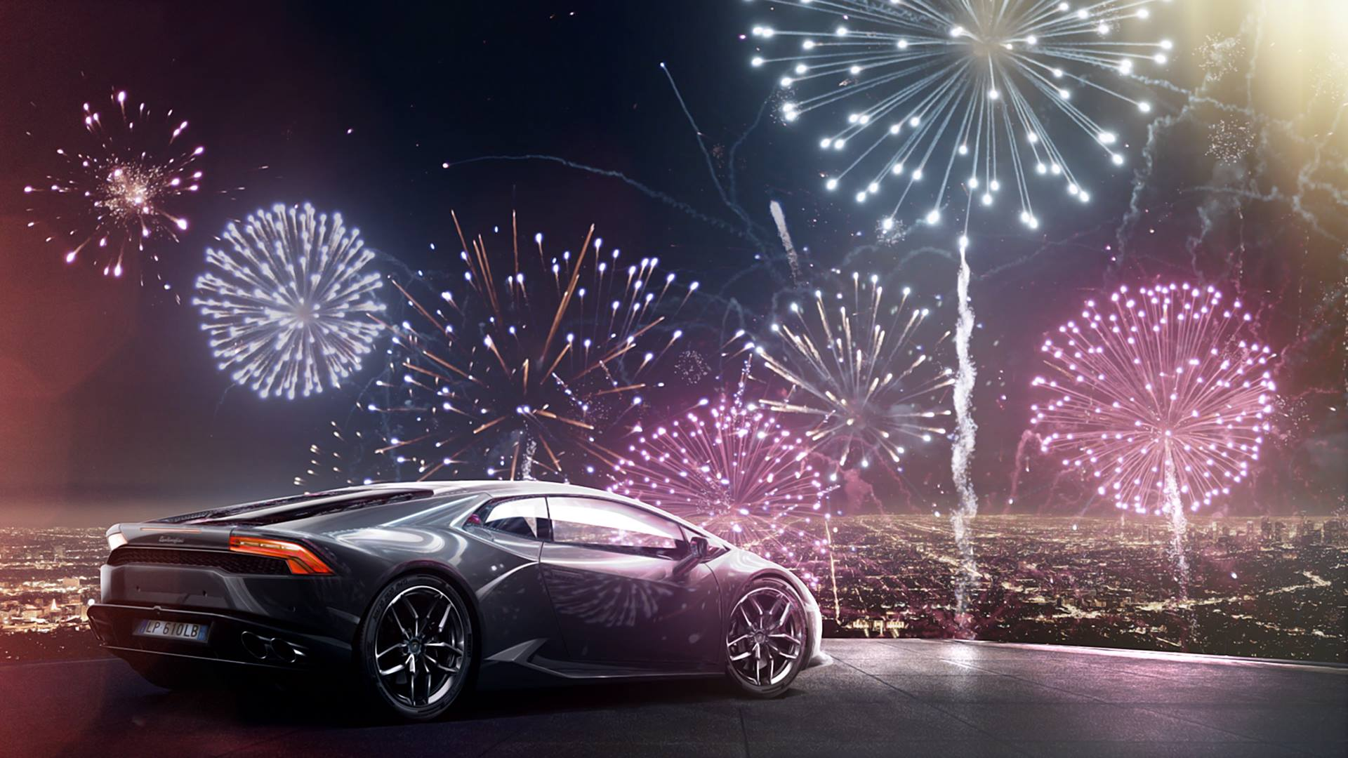 Happy New Year Car Wallpaper