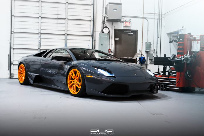 Stunning Lamborghini Murcielago LP640 on Orange PUR Wheels