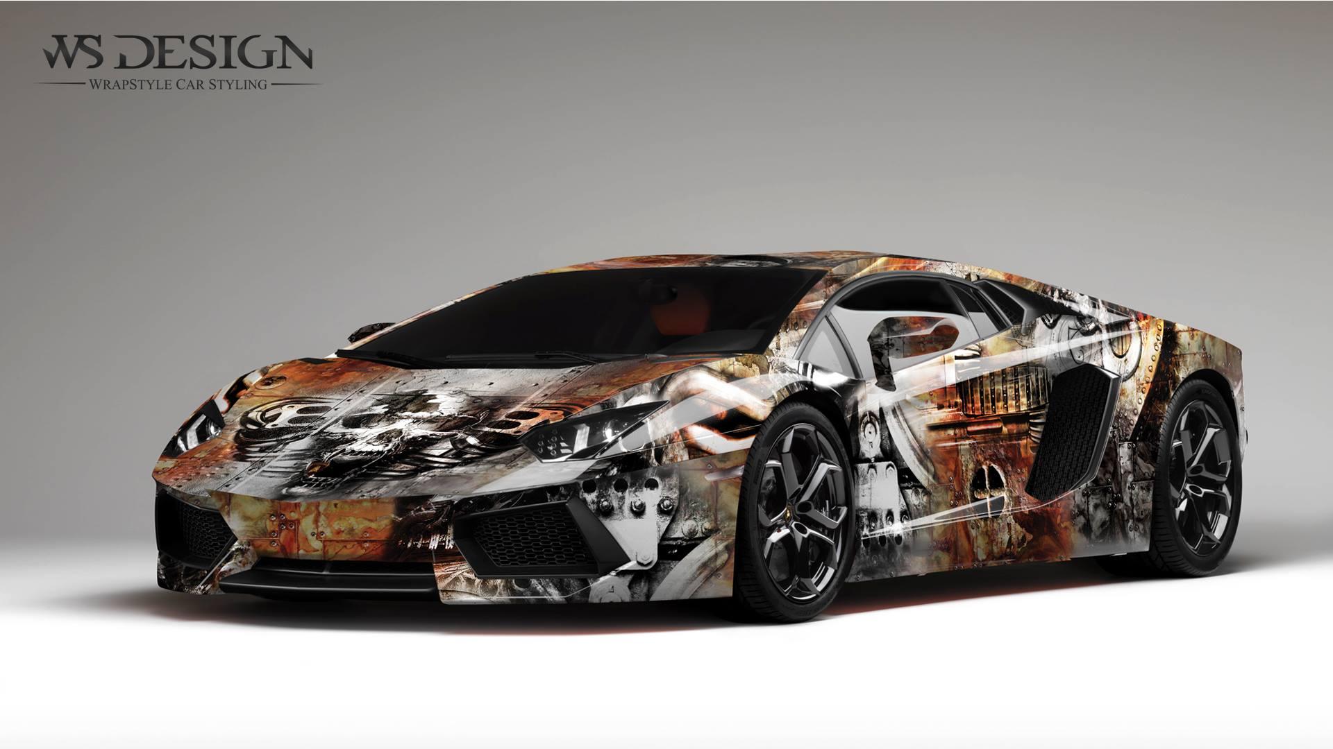 Lamborghini Aventador Art Design Wraps By Ws Designs