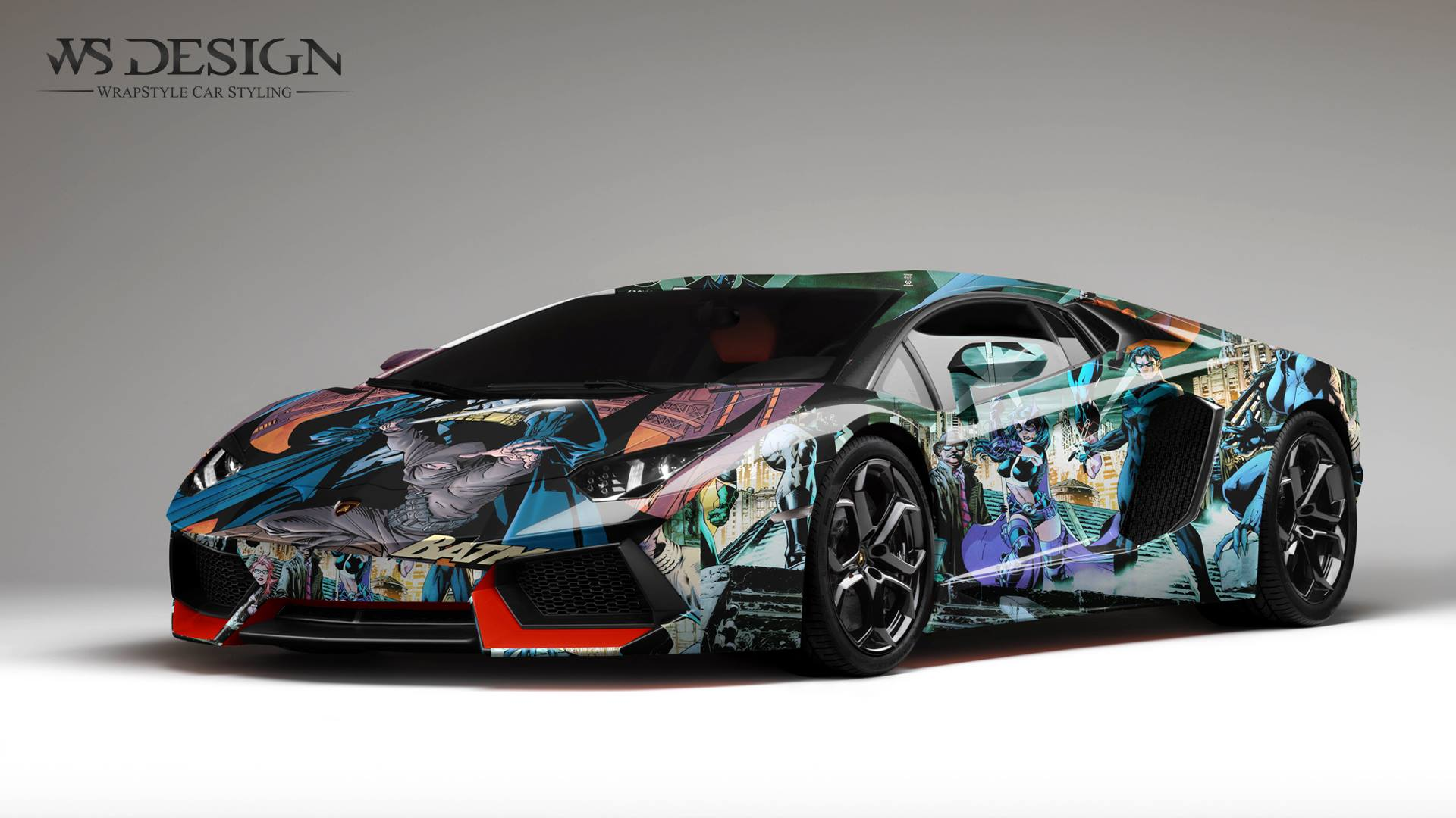 Lamborghini Aventador Art Design Wraps By Ws Designs