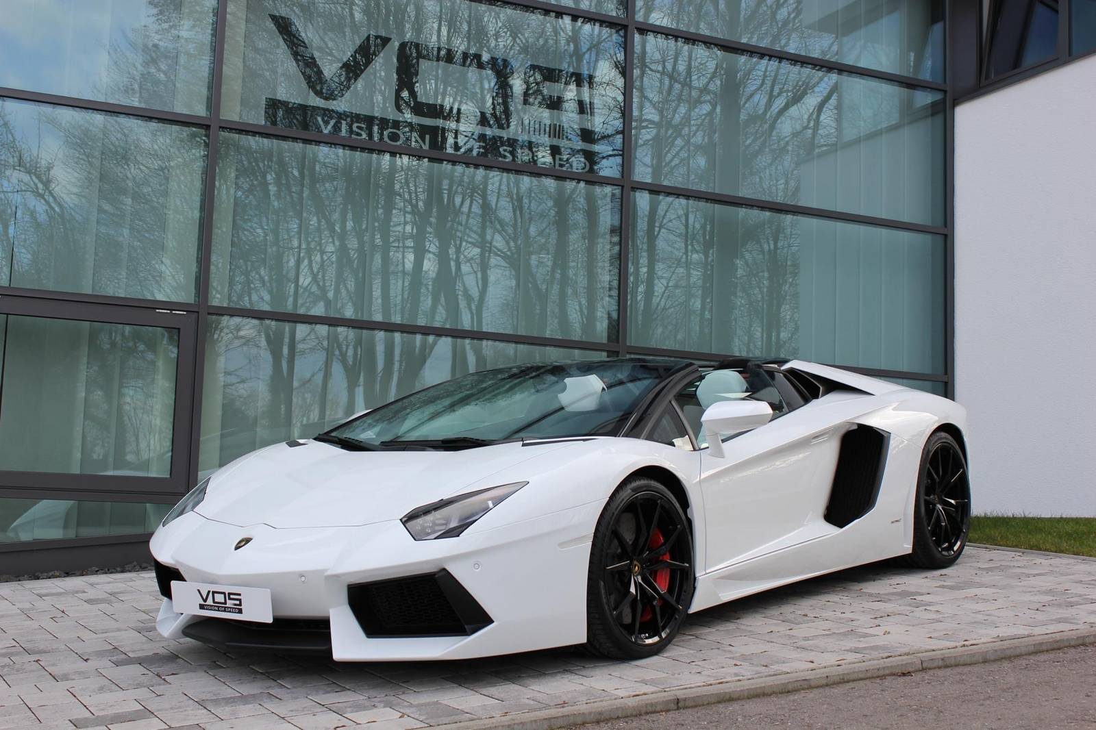 White Lamborghini Aventador Roadster by VOS GmbH - GTspirit