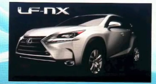 Production Lexus LF-NX Leaks Following During Presentation