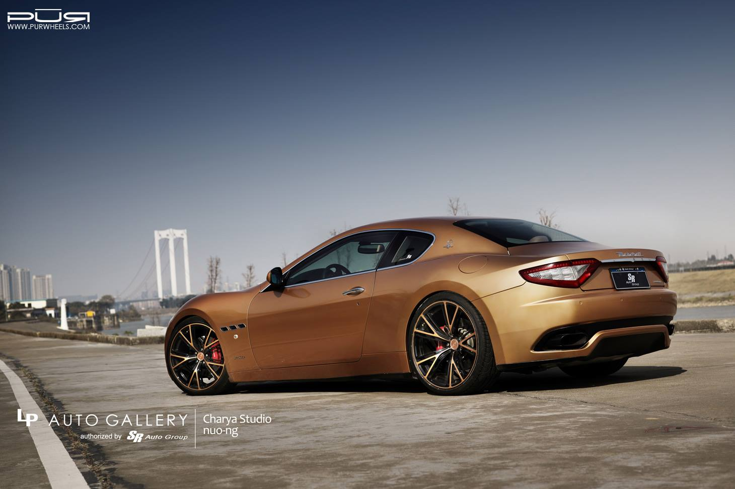 golden maserati granturismo lowered on matching pur wheels gtspirit. Black Bedroom Furniture Sets. Home Design Ideas