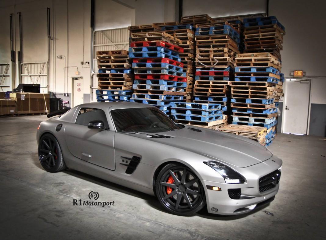 Matte Grey Aluminum Mercedes-Benz SLS AMG