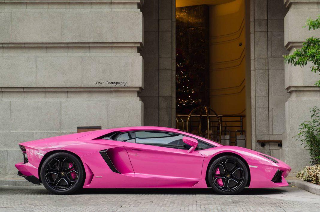 Pink Lamborghini Aventador