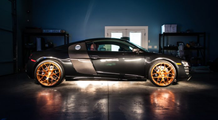 Audi R8 Rides on Copper HRE Wheels