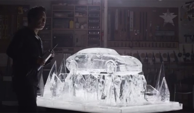 Porsche Panamera Formed With Ice and Fire