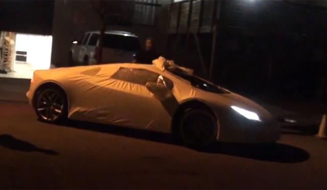 Disguised Lamborghini Huracan Spotted in the U.S.