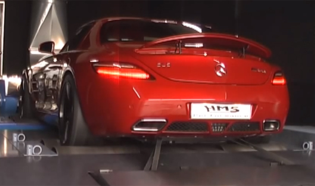 Supercharged Mercedes-Benz SLS AMG Sounds Brutal on the Dyno