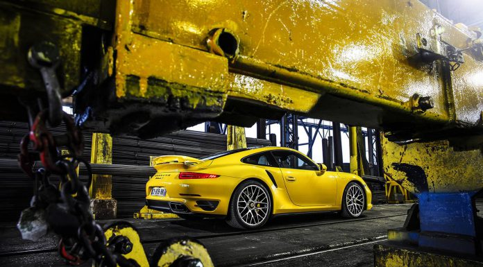 Yellow Porsche 991 Turbo S