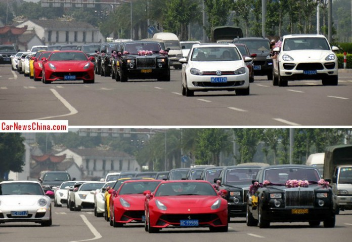 Epic Chinese Wedding Sees 25 Superca Strong Convoy