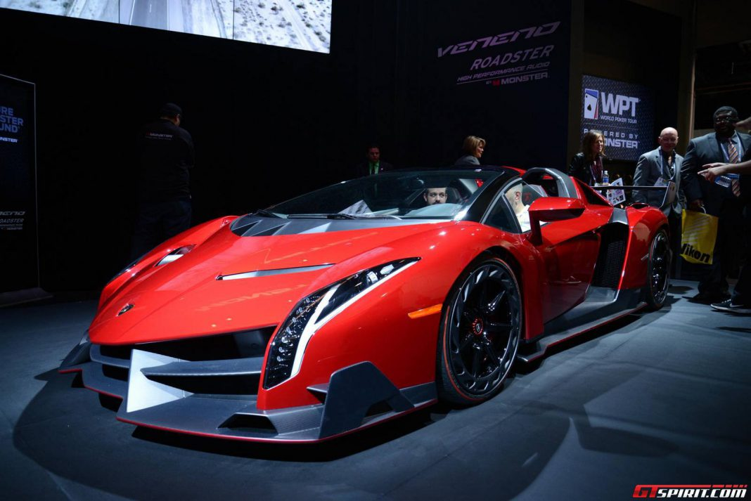 Lamborghini Veneno For Sale >> CES 2014: Lamborghini Veneno Roadster with Monster Audio System - GTspirit