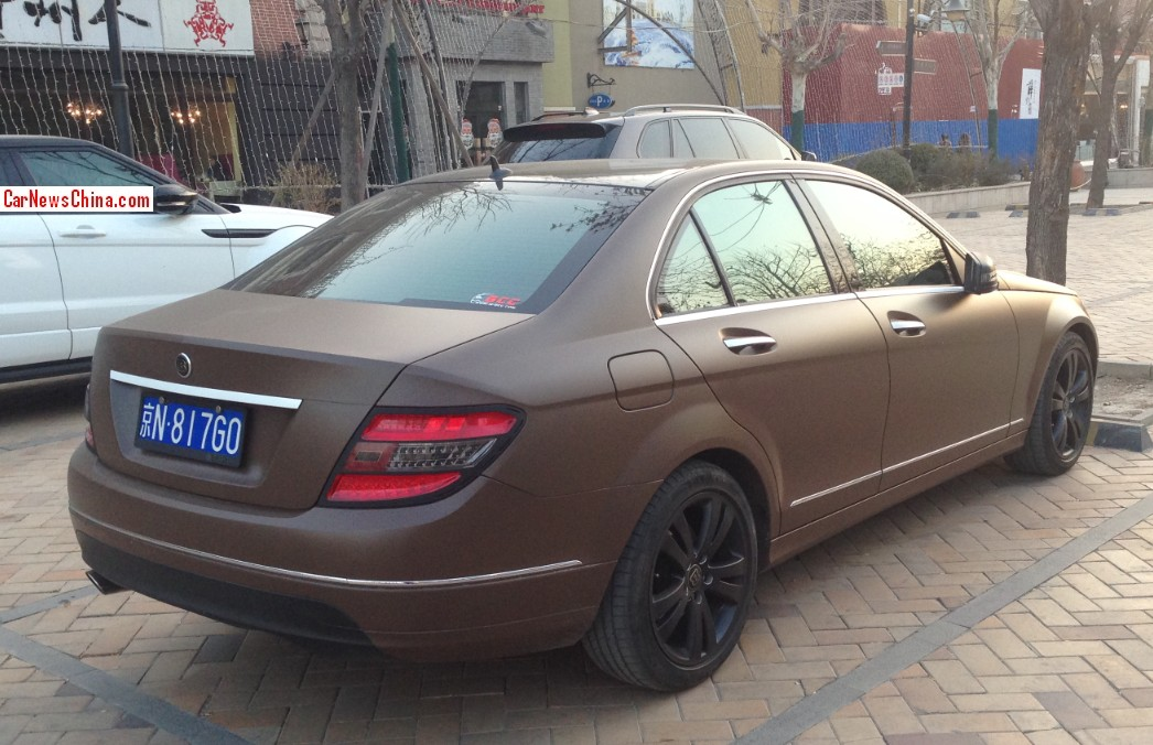 Chinese matte brown mercedes benz c class is sickening for Matte mercedes benz