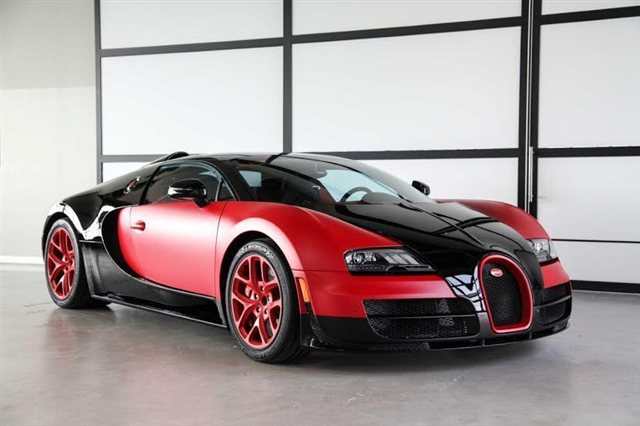 Unique Matte Red Bugatti Veyron Grand Sport Vitesse For Sale in U.S.
