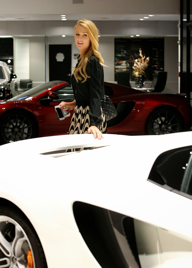 Paris Hilton Picks up Stunning White McLaren 12C Spider