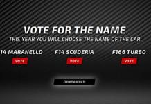 Voting Open to Name 2014 Scuderia Ferrari Formula One Car
