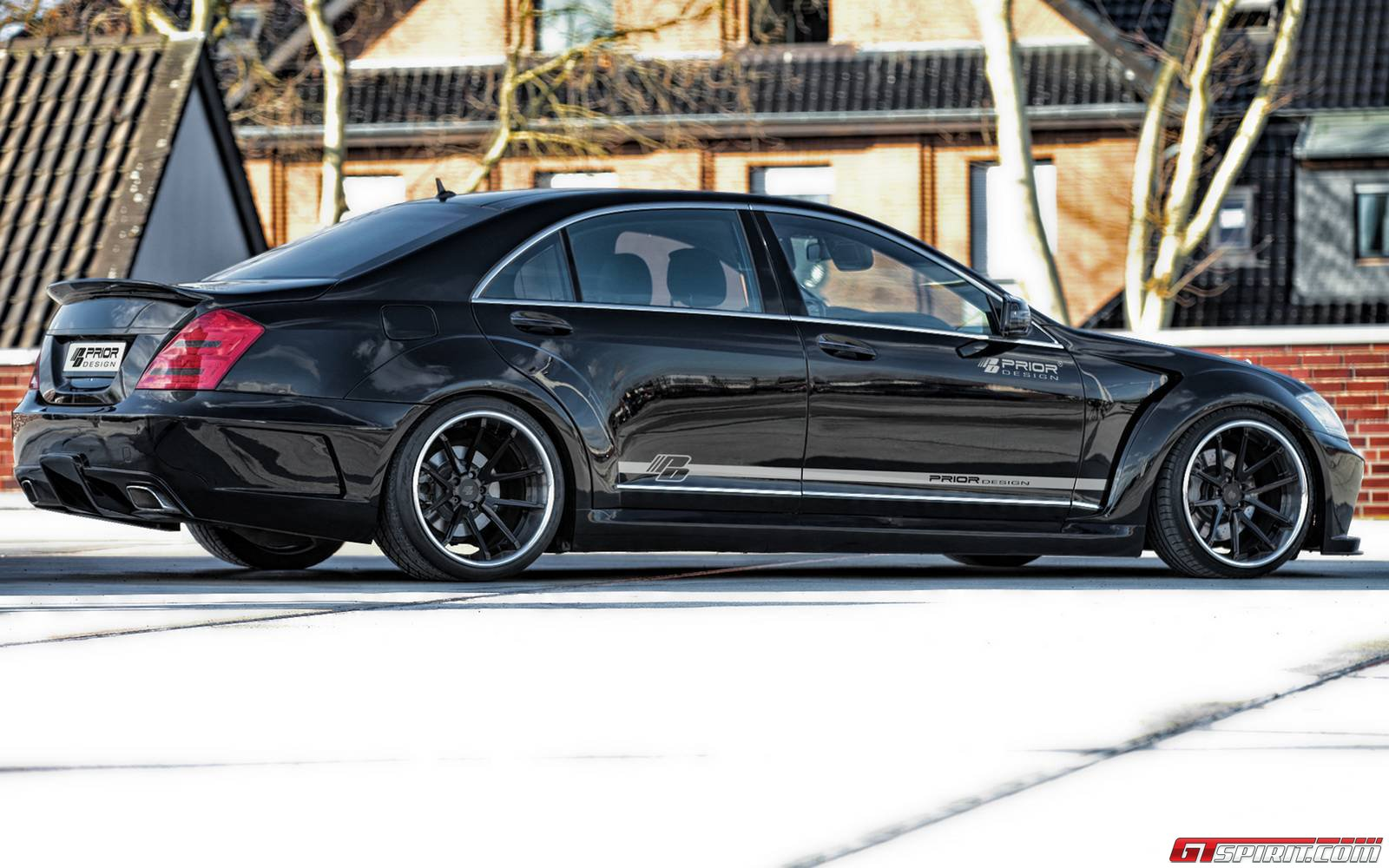 official mercedes benz s class v2 widebody black edition by prior design gtspirit - Mercedes Benz 2014 S Class Black