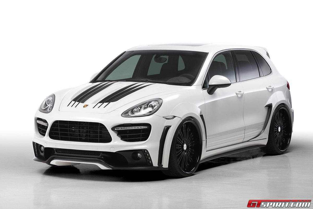 First and foremost, the Porsche Cayenne 958 Black Bison Edition includes a  completely new front fascia incorporating a new bumper, black front  splitter, ...