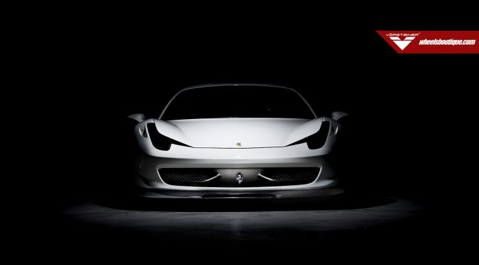 Sleek White Ferrari 458 Italia by Vorsteiner