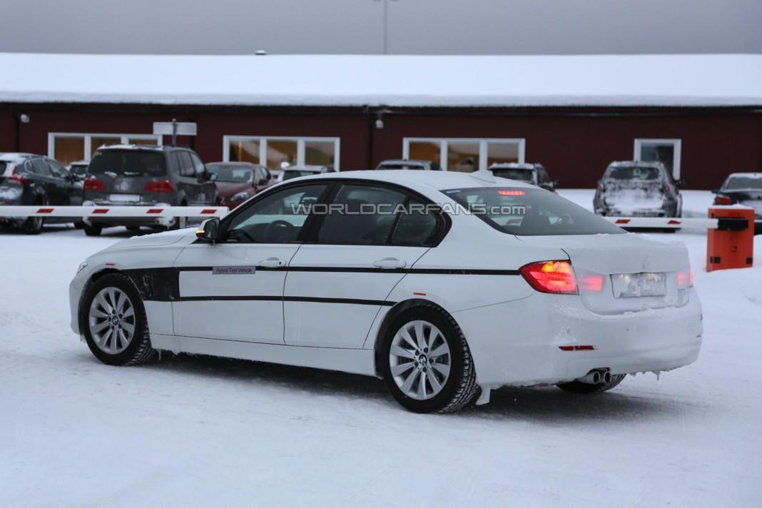 BMW 3-Series Plug-In Hybrid Spotted Testing