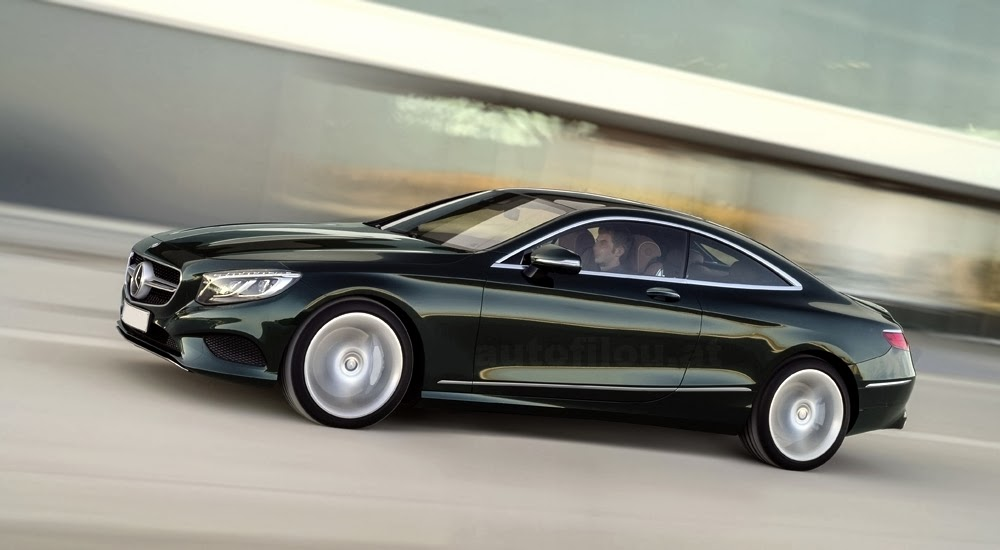 First mercedes benz s class coupe picture officially leaks for How much is a 2014 mercedes benz s550