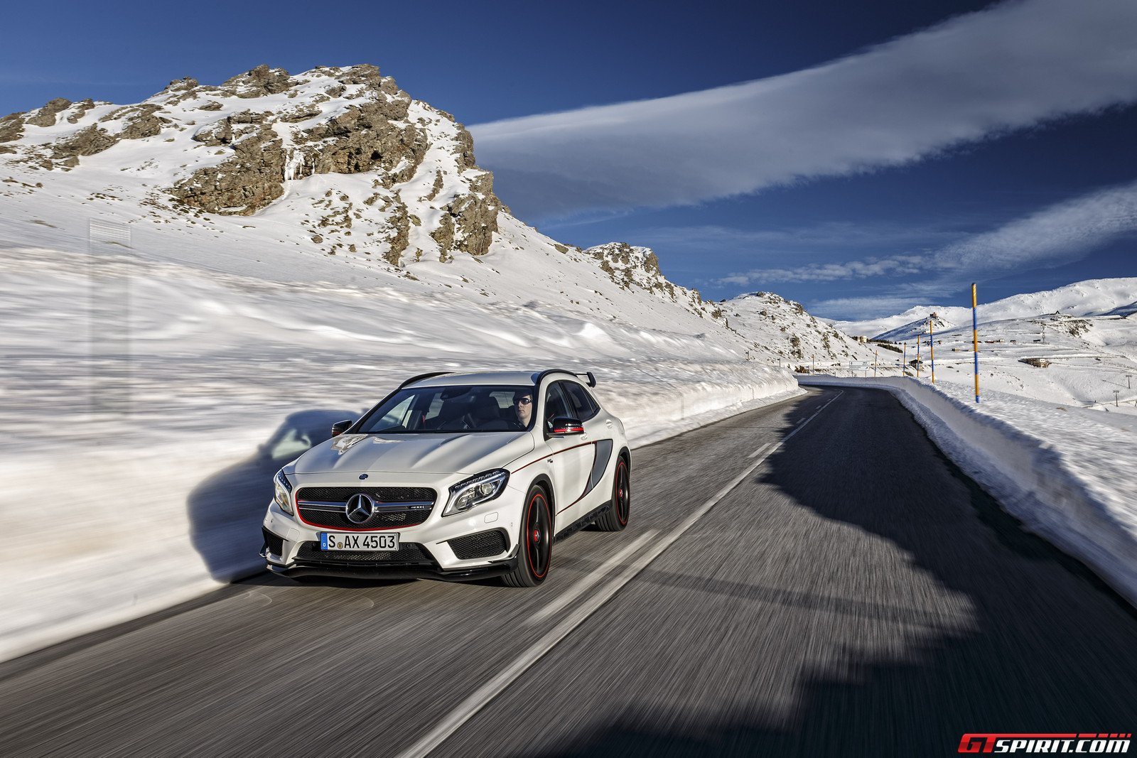 mercedes benz gla 45 amg edition 1 in the snow 2015 mercedes benz gla ...