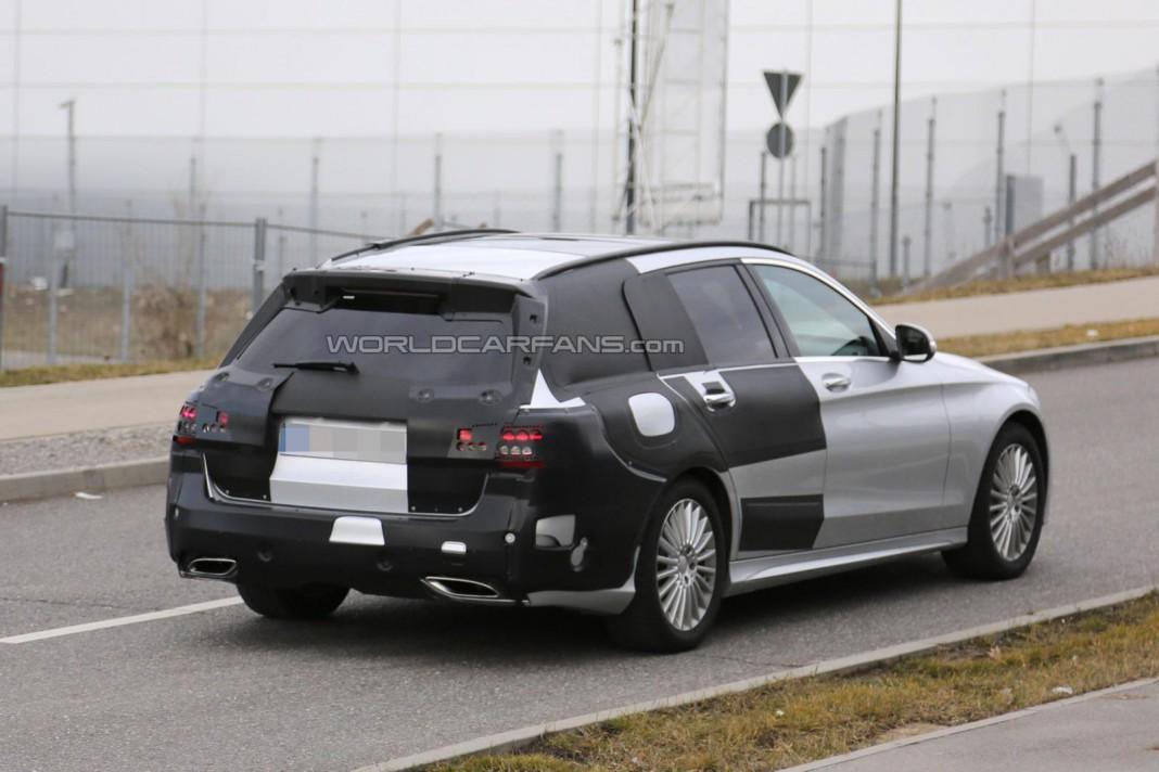 2015 Mercedes-Benz C-Class Estate Spied Testing