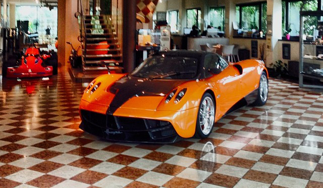 Second Orange Pagani Huayra Spotted at Factory