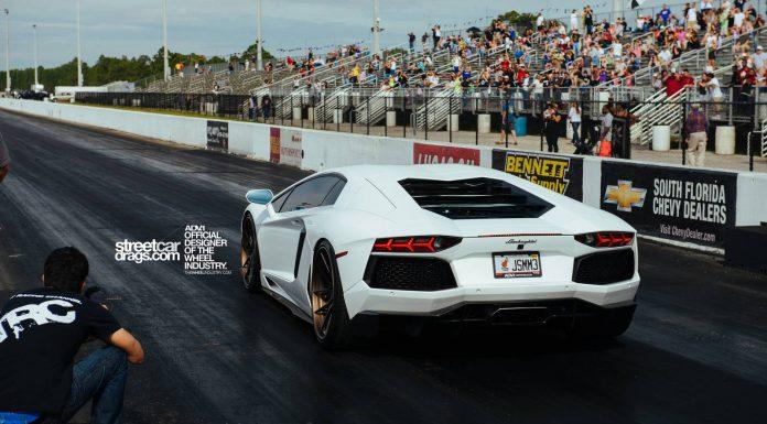 ADV.1 Equipped Lamborghini Aventador Hits the Drag Strip