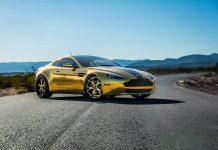 Gold Aston Martin Vantage