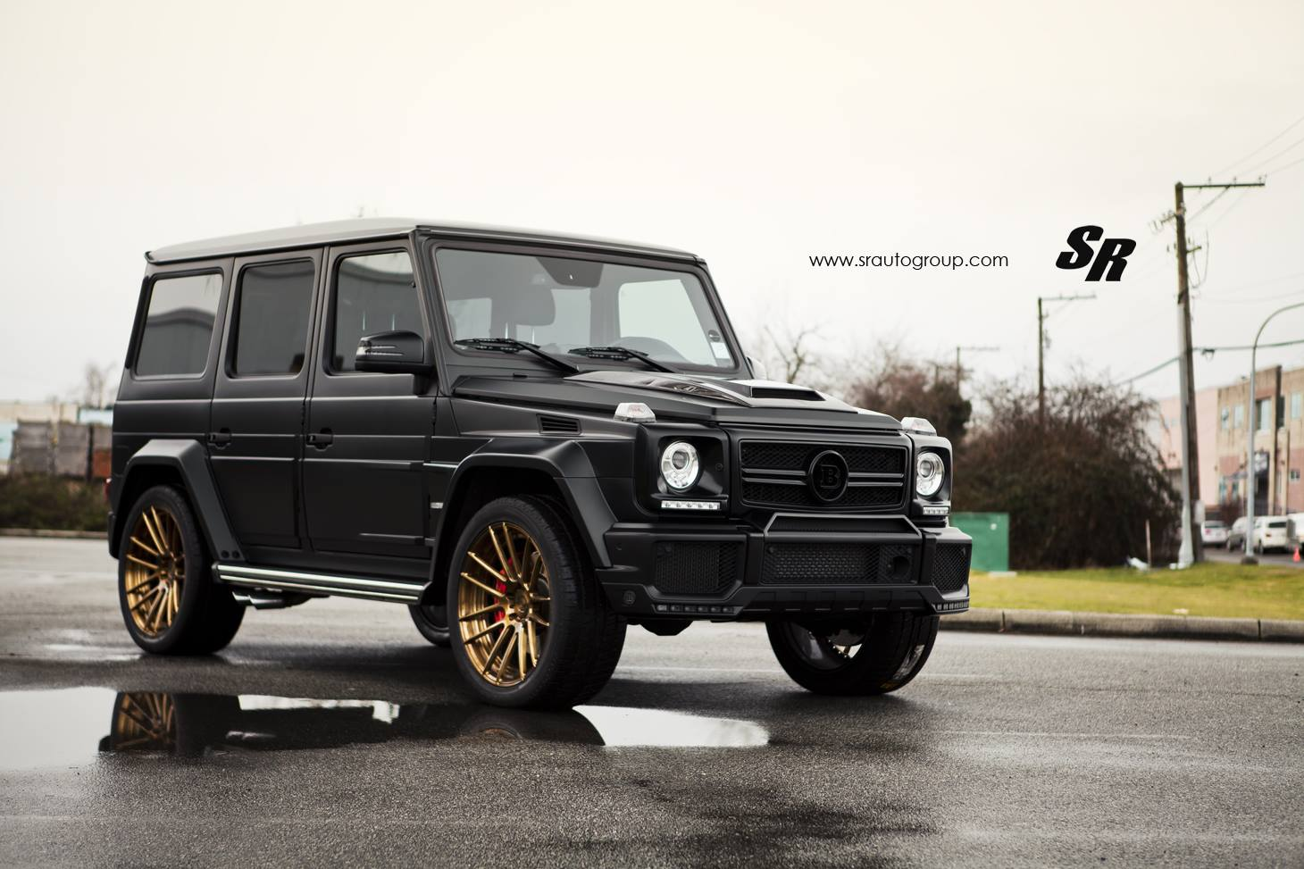 matt black brabus widestar g class by sr auto gtspirit. Black Bedroom Furniture Sets. Home Design Ideas