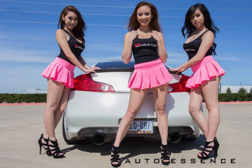 Auto Essence Photoshoot with Three Hot Models