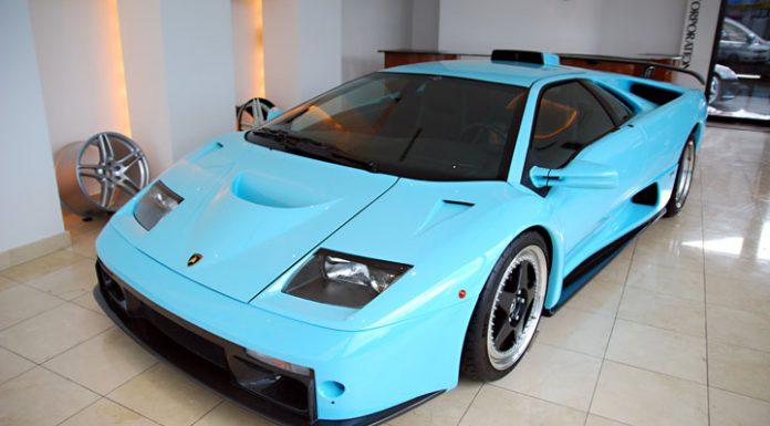 Ice Blue 2001 Lamborghini Diablo GT For Sale in Japan