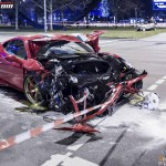 Ferrari 458 Speciale Crash in Berlin