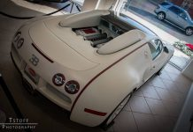 Xzibit's Matte White and Red Bugatti Veyron For Gumball 3000