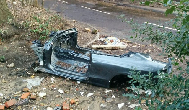 Audi RS5 Stripped Of Parts After Being Abandoned in Flood Waters