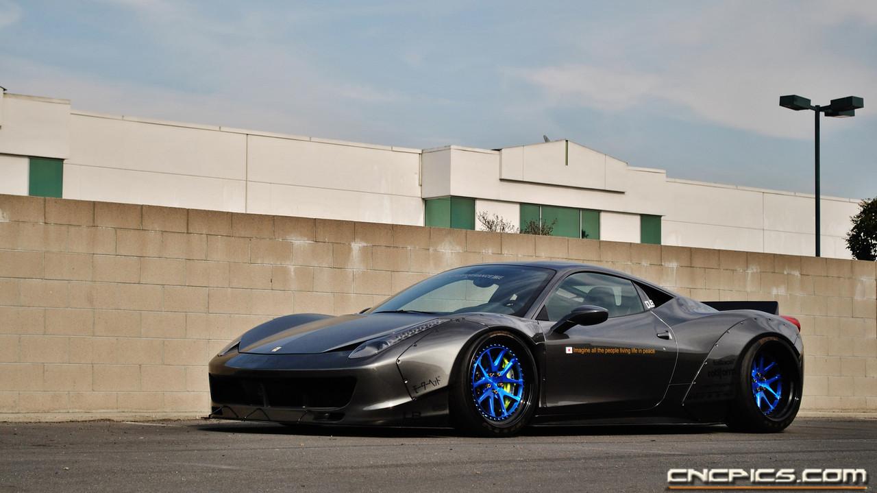 Lb Performance Widebody Ferrari 458 Italia Photoshoot