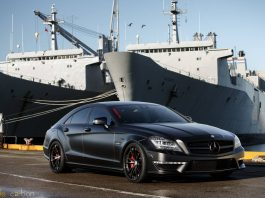Matt Black Mercedes-Benz CLS63 AMG S by Mode Carbon
