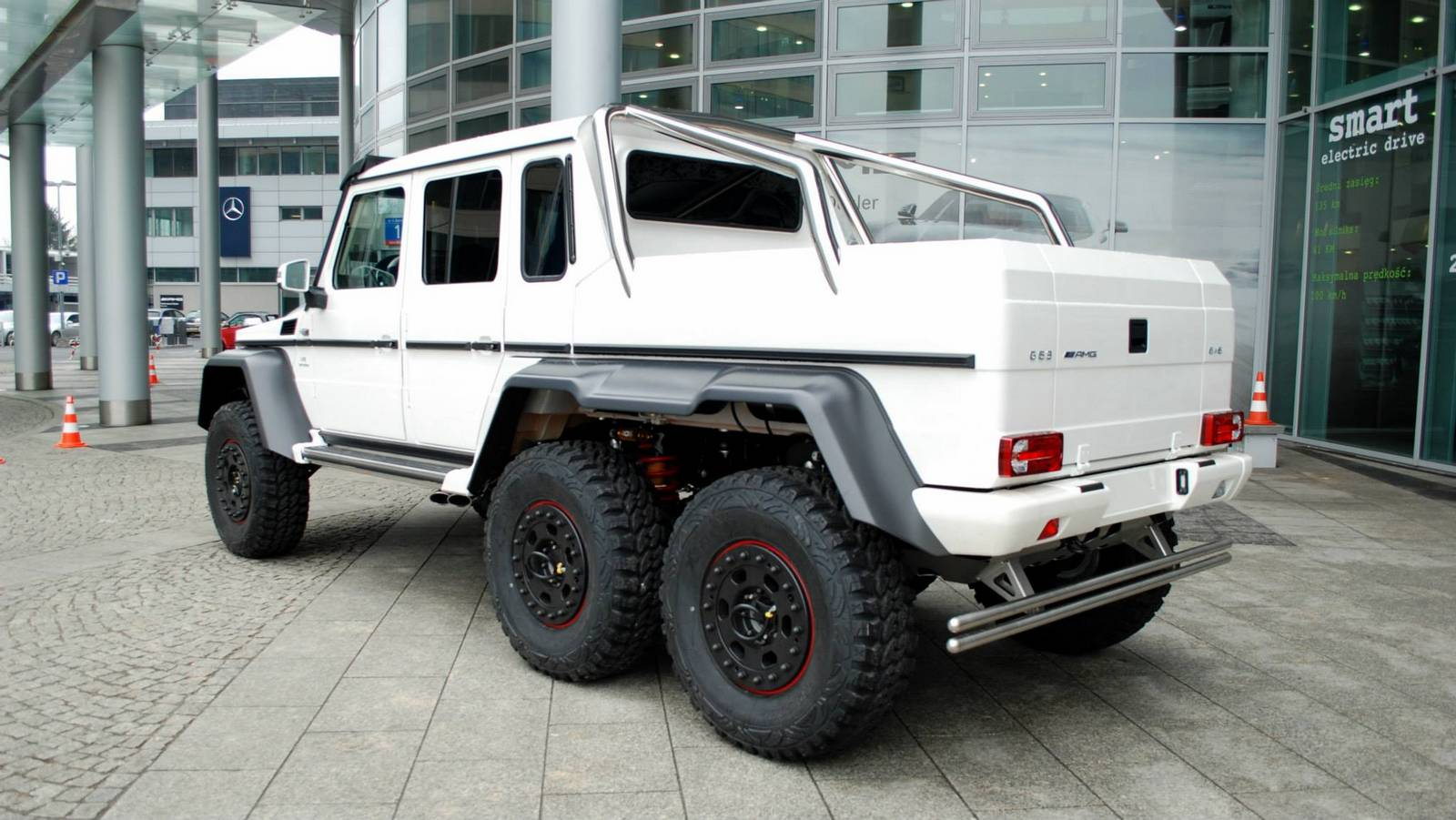 white mercedes benz g 63 amg 6x6 in warsaw poland gtspirit. Black Bedroom Furniture Sets. Home Design Ideas