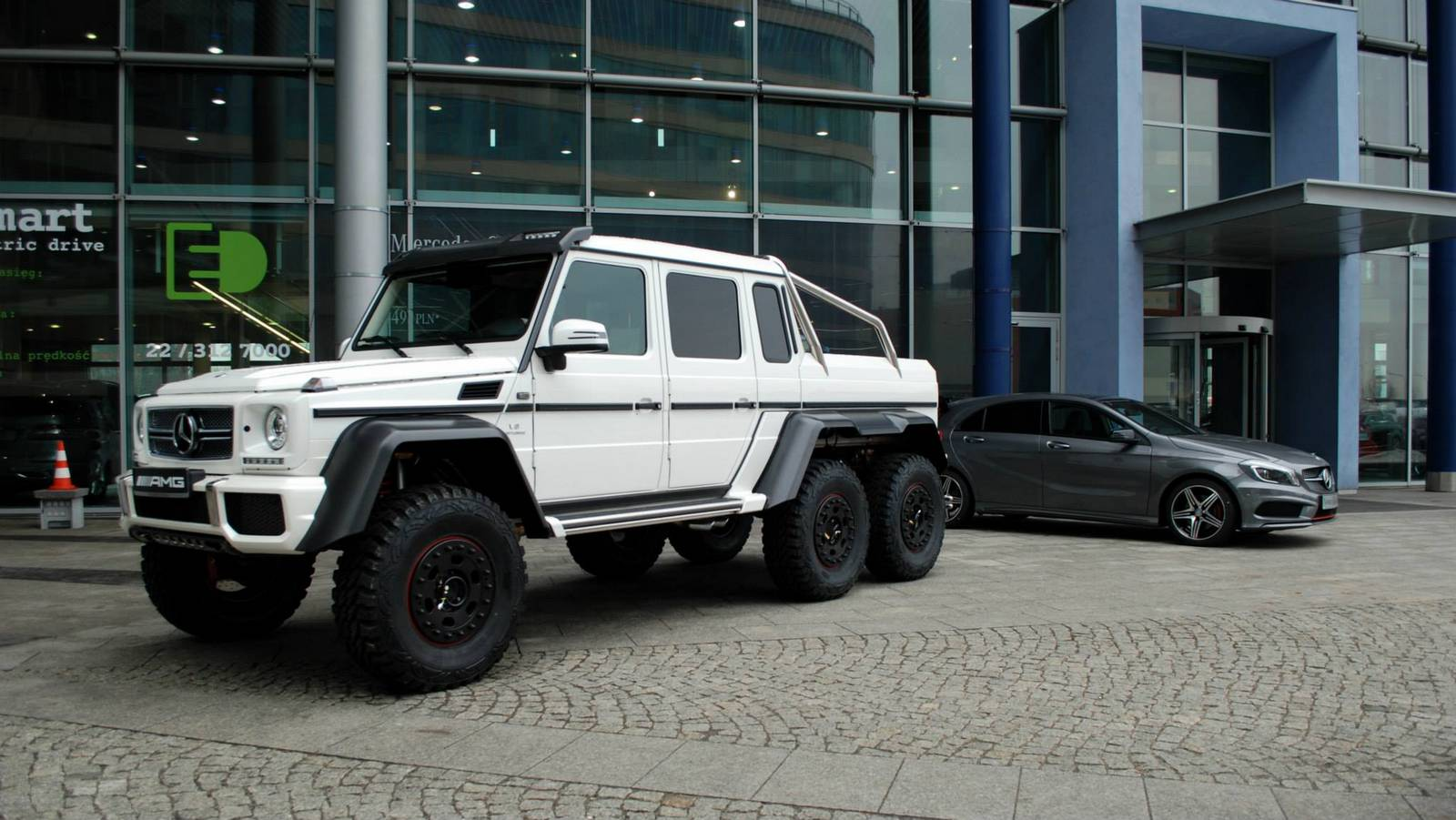 White Mercedes Benz G 63 Amg 6x6 In Warsaw Poland Gtspirit
