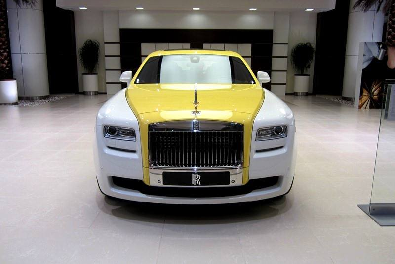 Rolls Royce Ghost In English White And Semaphore Yellow Gtspirit