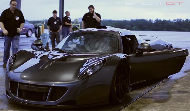 Watch the Hennessey Venom GTs Record Setting Top Speed Run