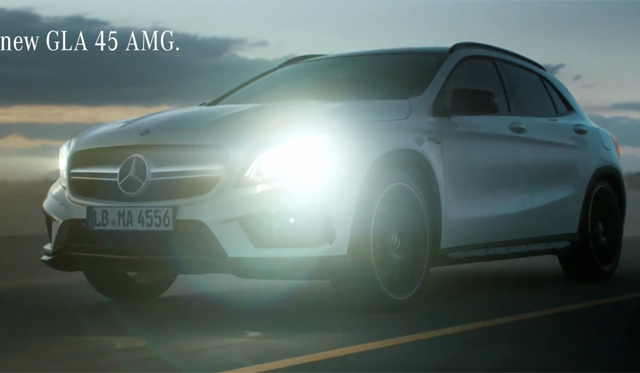 Mercedes benz gla 45 amg commercial revealed gtspirit for Mercedes benz new advert