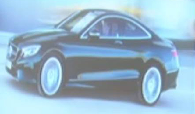 First Official Photo of Mercedes-Benz S-Class Coupe