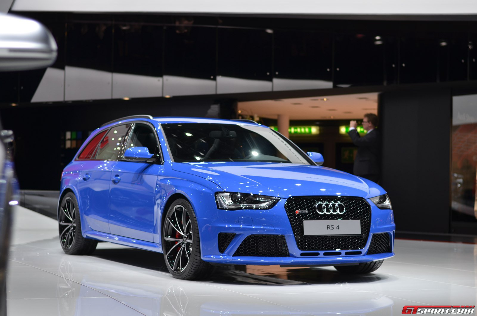 the audi rs4 avant nogaro selection is on display at audi s geneva ...