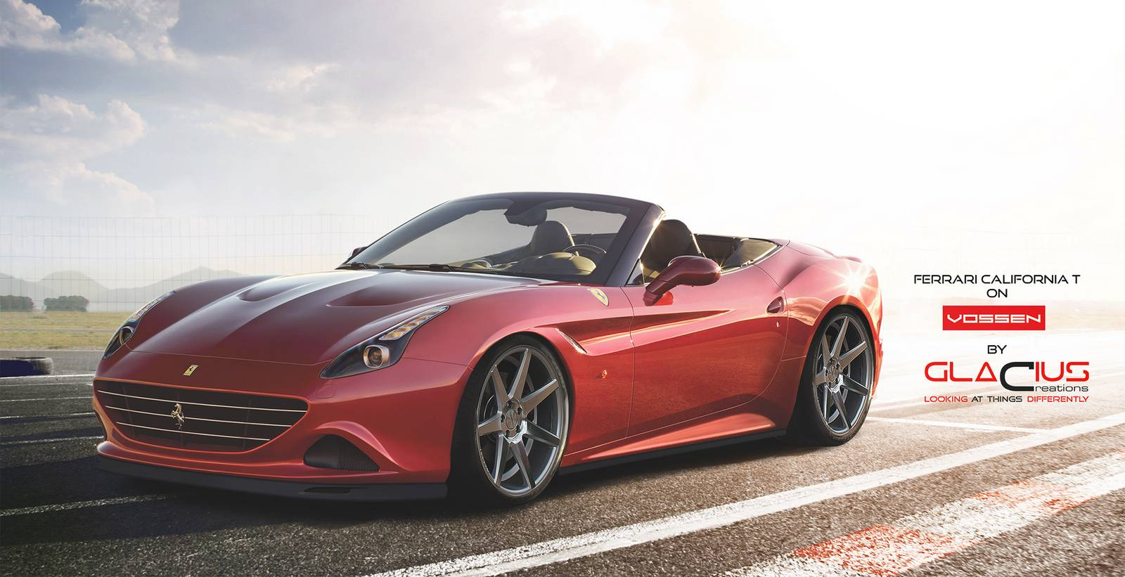 render 2015 ferrari california t on vossen wheels gtspirit. Black Bedroom Furniture Sets. Home Design Ideas