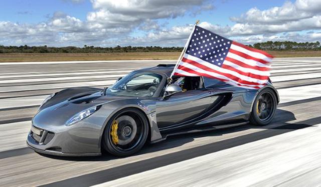 Hennessey Venom GT Hits Record 270.49 mph at NASA