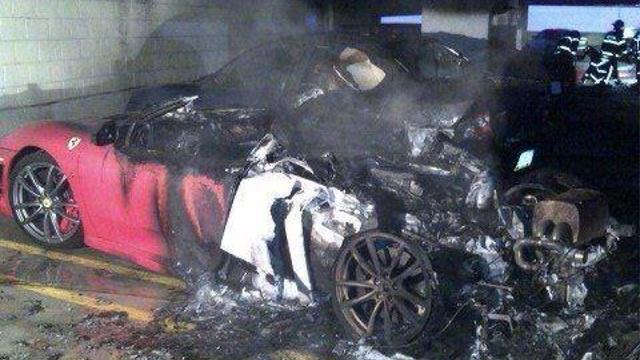 Ferrari F430 Burns in U.S. Hospital Fire